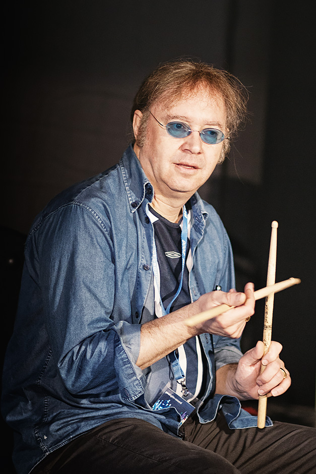 Ian Paice Deep Purple backstage