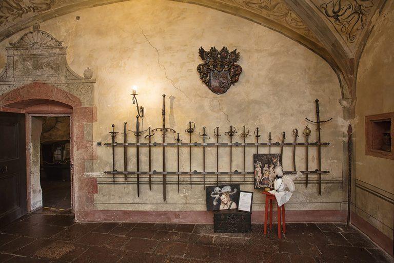 Schloss Buedingen Ausstellungsraum Urteil des Paris
