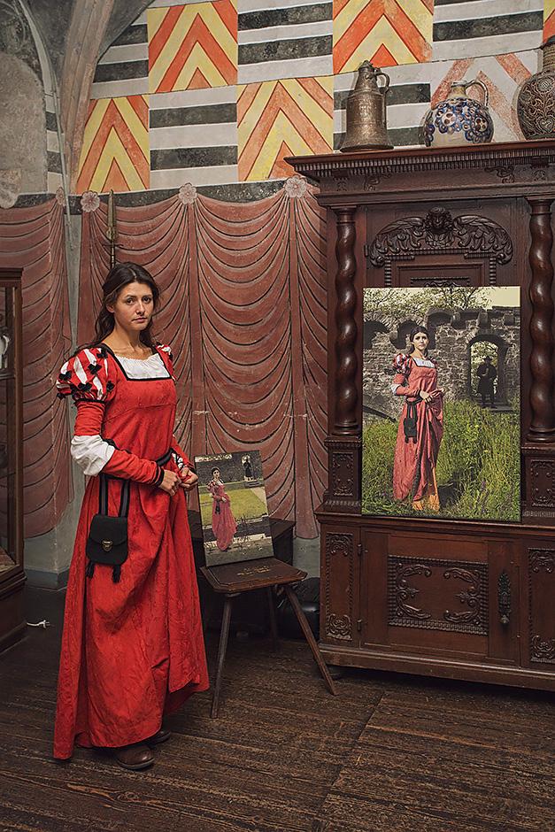 Schloss Buedingen Ausstellungsraum Wizards Garden mit Model