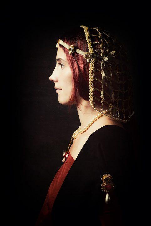 Beatrice D Este Ambrogio de Predis 1490 - Nicole Friedersdorf - Darkdirndl - Historic Couture
