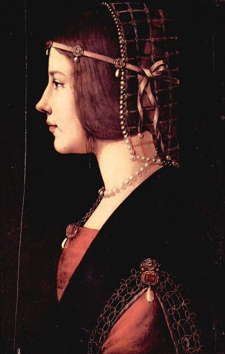 Beatrice D Este Ambrogio de Predis 1490