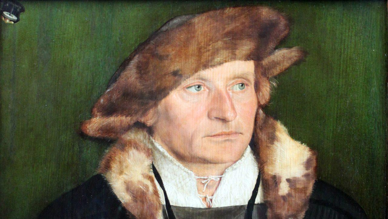 Beham Hans Urmiller mit seinem Sohn Anagoria 1525 Ausschnitt