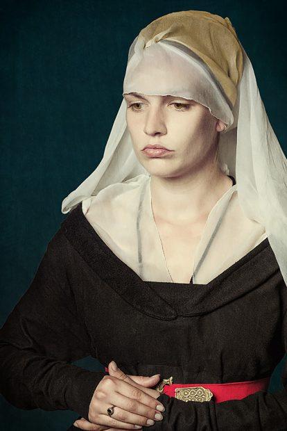 Rogier van der Weyden Portrait einer Dame - Nicole Friedersdorf - Darkdirndl - Historic Couture