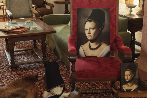 Schloss Buedingen Ausstellungsraum Bildnis einer Dame