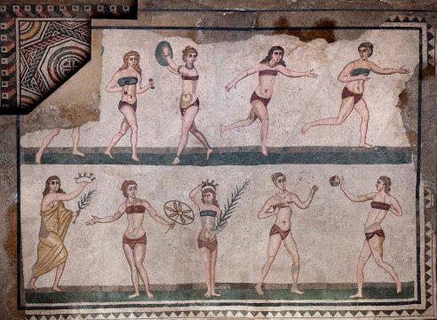 Taenzerinnen aus der Villa Romana del Casale